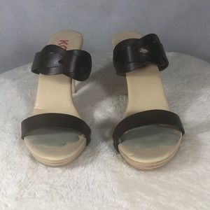 MICHAEL KORS, Sandal ,Size 9 , Brown & Cream Color